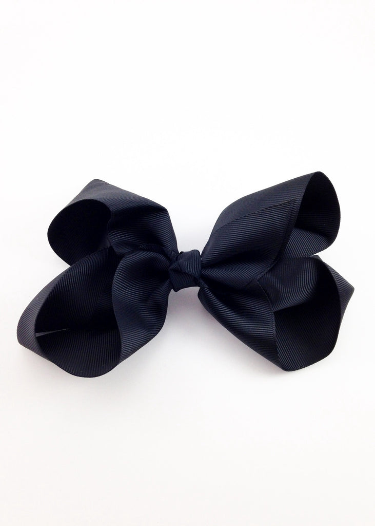 Girls Black Grossgrain Hairbow