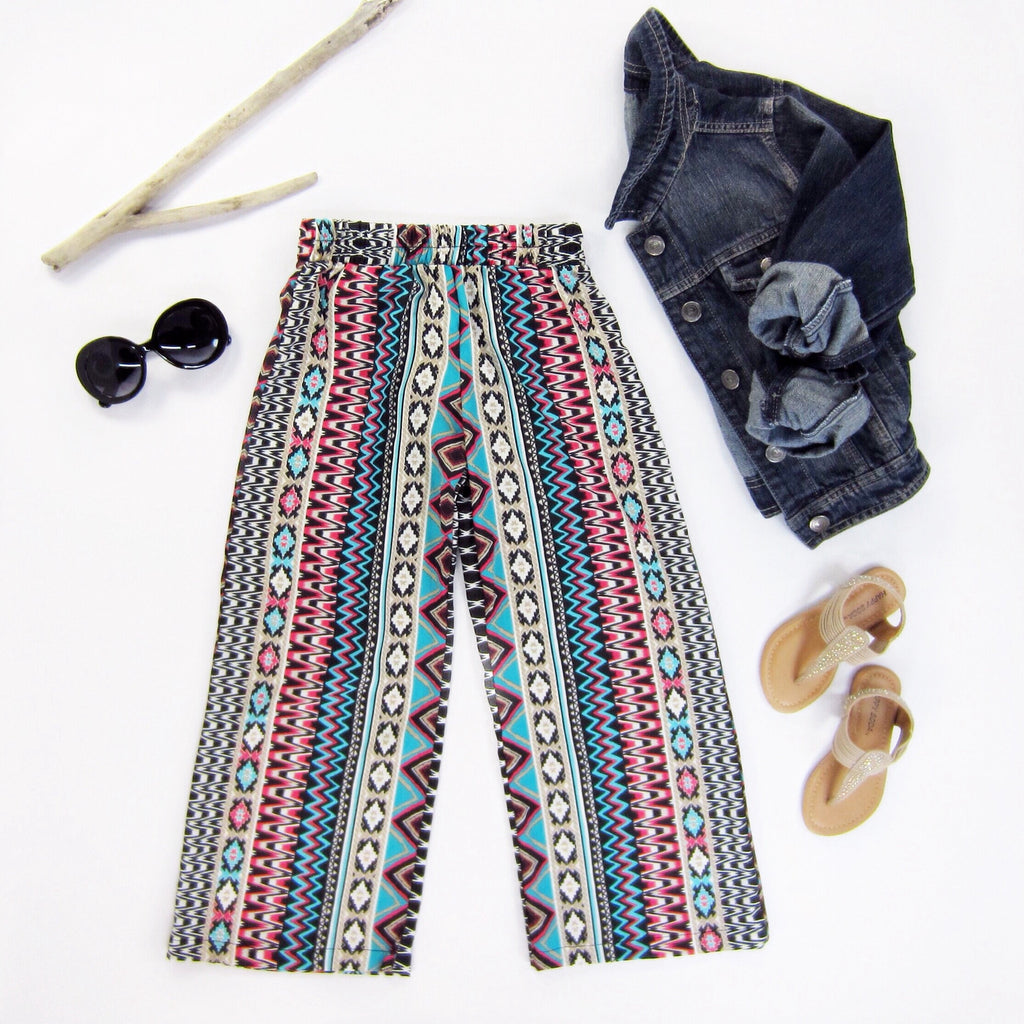 Girls Tribal Palazzo Pants - Liberty Lark