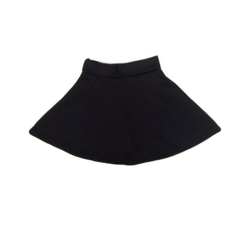 Girls Black Skater Skirt