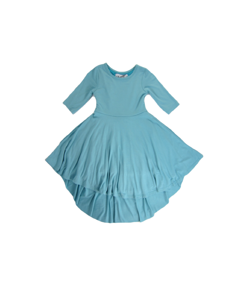 Girls Aqua Sky Hi-Lo Dress