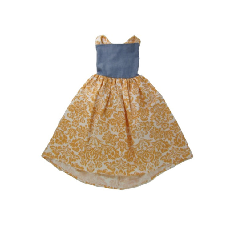 Girls Damask Dress | Liberty Lark LLC