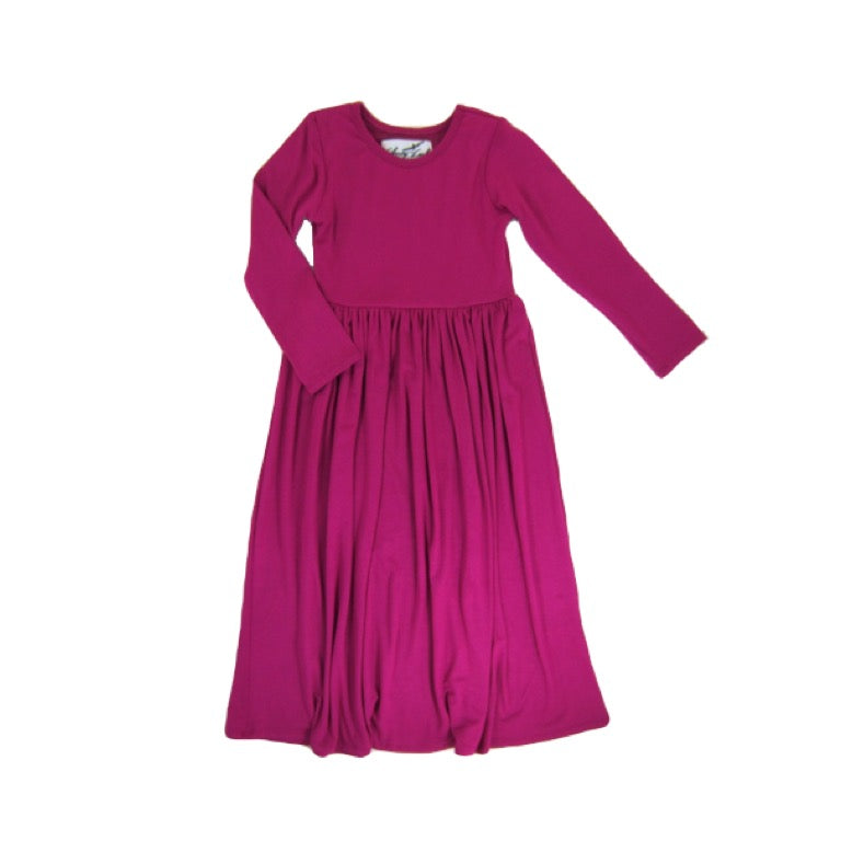 Girls Pink Maxi Dress