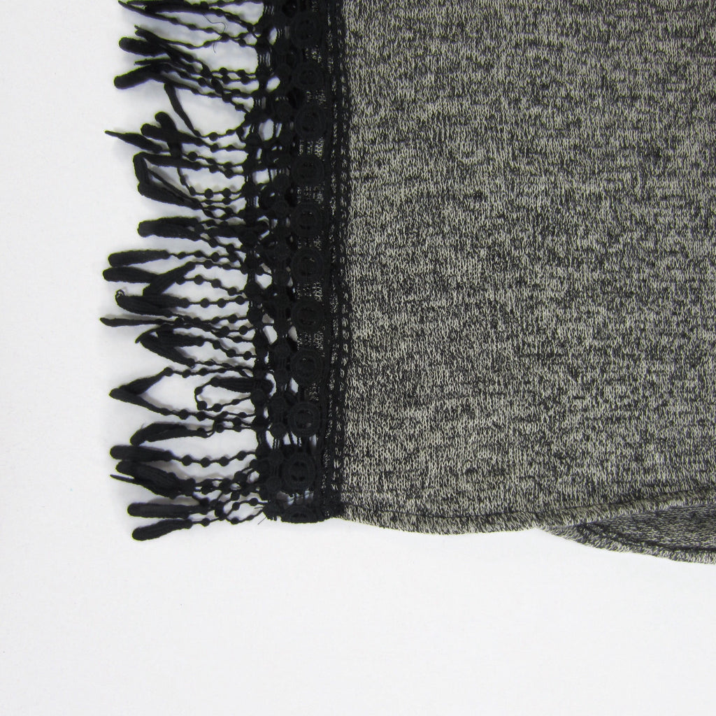 Girls Heathered Fringe Top
