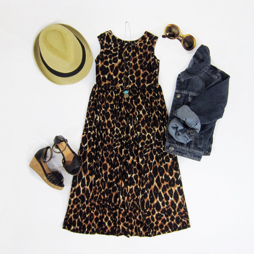 Girls Leopard Maxi Dress