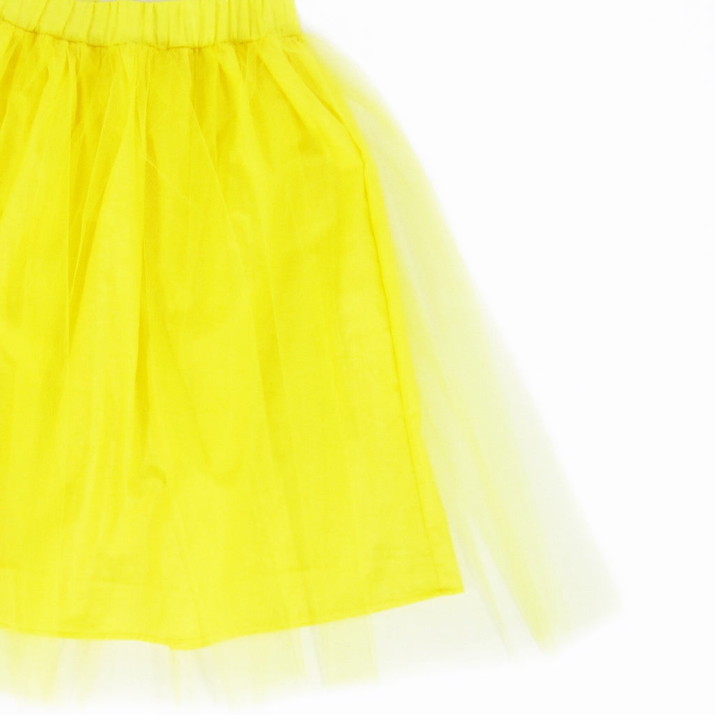 Girls Lemon Yellow Midi Tulle Skirt