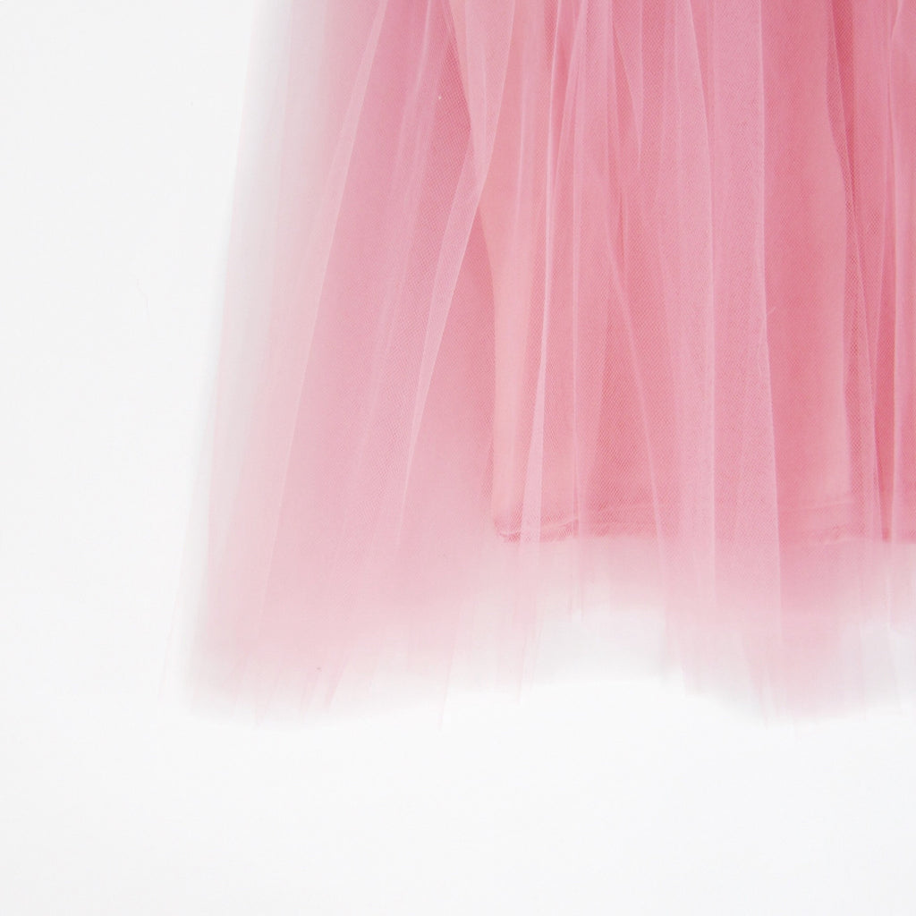 Girls Dusty Rose Tulle Skirt