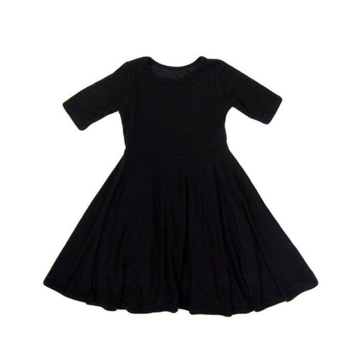 Girls Black Twirly Dress | Liberty Lark