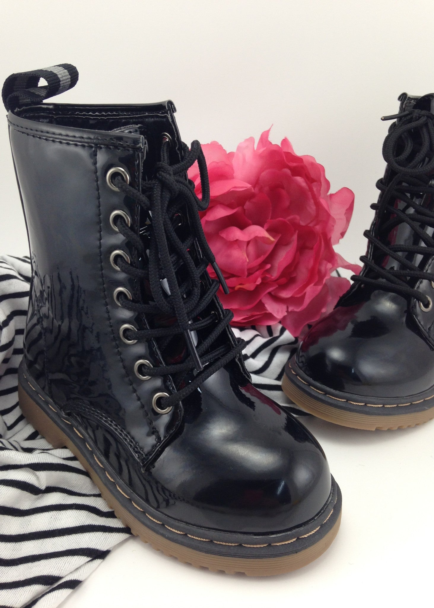 Girls Shoes | Girls Black Patent Boots