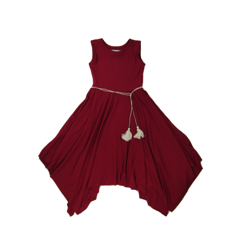 Girls Red Twirly Dress