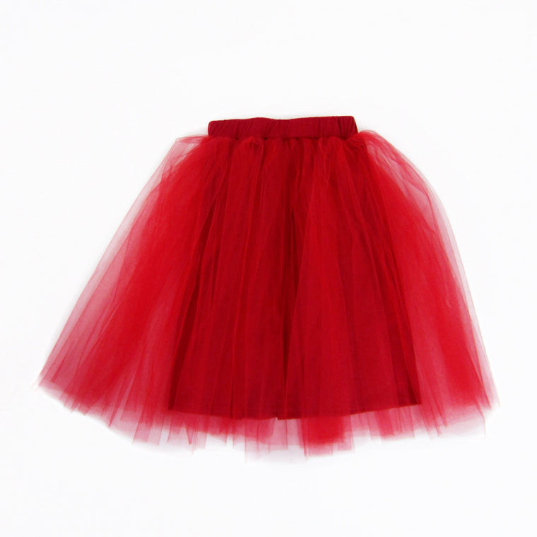 Girls Red Tulle Skirt