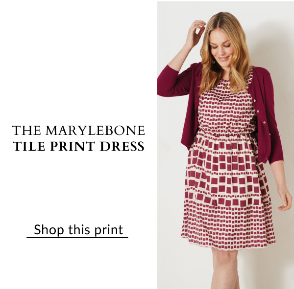 The Marylebone Tile Print dress