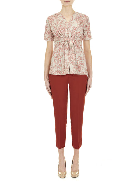 Queensbury Gathered Waist Top - Nougat London - 1
