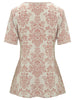 Queensbury Gathered Waist Top - Nougat London - 4