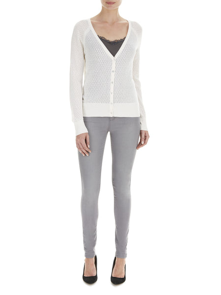 Cream Iris Pointelle Cardigan - Nougat London - 1