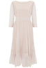 Nude Pink Petunia Lace Frill Dress - Nougat London - 3
