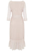 Nude Pink Petunia Lace Frill Dress - Nougat London - 4