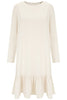 Oatmeal Pansie Frill Hem Dress - Nougat London - 2