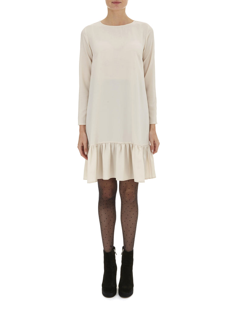 Oatmeal Pansie Frill Hem Dress - Nougat London - 1