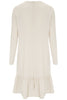 Oatmeal Pansie Frill Hem Dress - Nougat London - 3