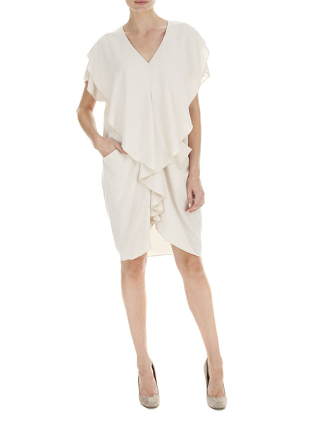 Oatmeal Jasmine Draped Dress - Nougat London - 1