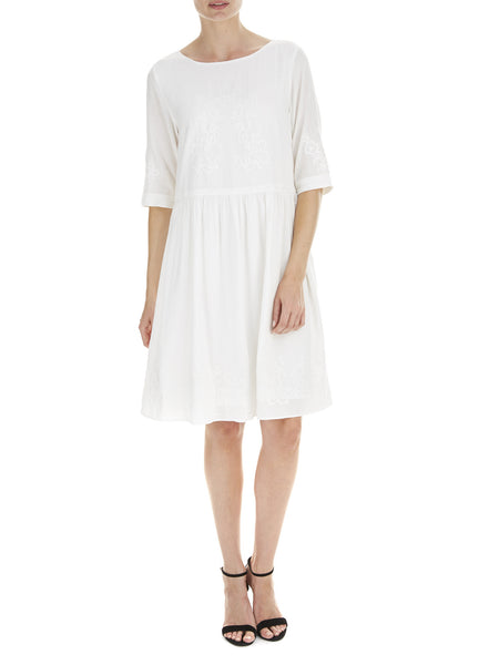 Cream Poppy Linen Dress - Nougat London - 1