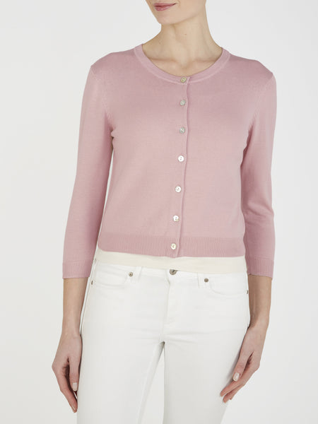 Nude Pink Tansy Cropped Cardigan