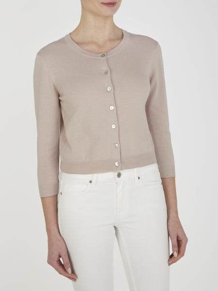 Oatmeal Tansy Cropped Cardigan