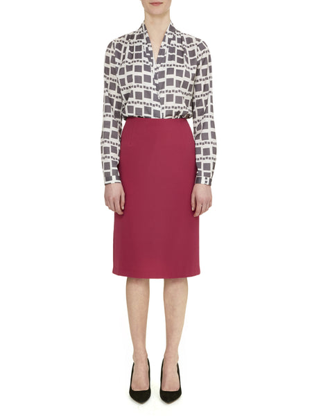 Raspberry Camden Pencil Skirt - Nougat London - 1
