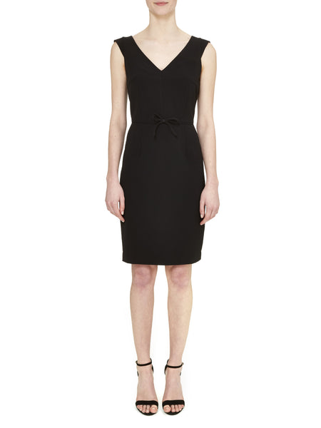 Black Chelsea Cap Sleeve Dress - Nougat London - 1