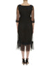 Black Petunia Lace Frill Dress - Nougat London - 4