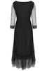 Black Petunia Lace Frill Dress - Nougat London - 3