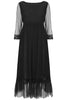 Black Petunia Lace Frill Dress - Nougat London - 2