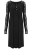Black Rose Lace Sleeve Dress - Nougat London - 3