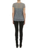 Charcoal Lily Embroidered T Shirt - Nougat London - 2