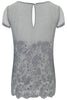 Charcoal Lily Embroidered T Shirt - Nougat London - 4