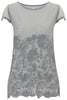 Charcoal Lily Embroidered T Shirt - Nougat London - 3