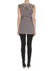 Charcoal Camellia Lace Jersey Top - Nougat London - 2
