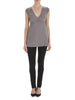 Charcoal Camellia Lace Jersey Top - Nougat London - 1