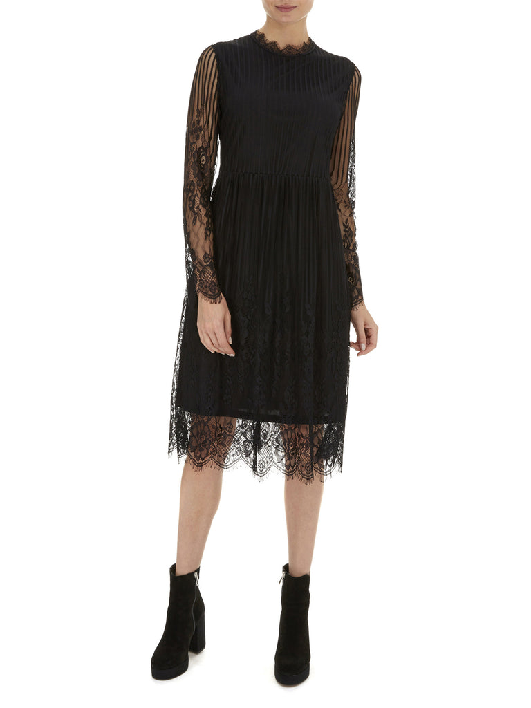 Black Primrose Lace Dress - Nougat London - 1