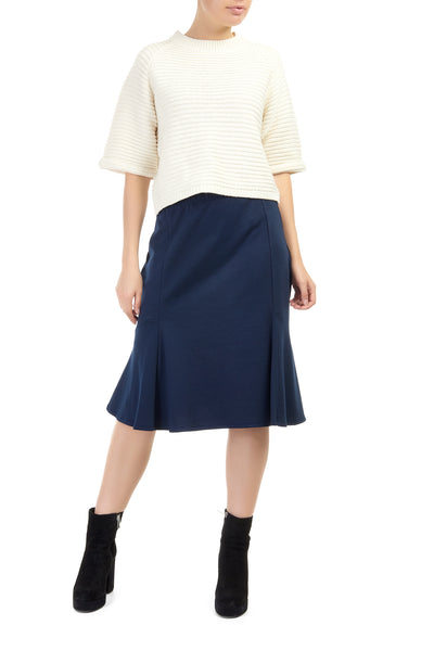 Navy Elderflower Flippy Skirt