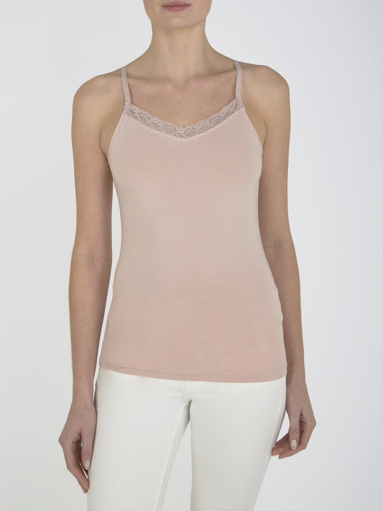 Nude Pink Clover Lace Camisole
