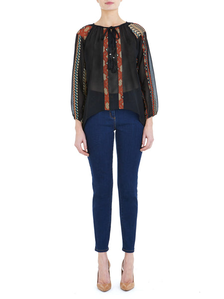 Black Boho Blouse - Nougat London - 1