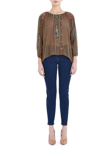 Taupe Boho Blouse - Nougat London - 1