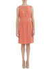 Coral Silk Embellished Dress - Nougat London - 1