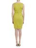 Chartreuse V Neck Stretch Dress - Nougat London - 4