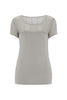 Pale Grey Daisy Lace T-Shirt - Nougat London - 3