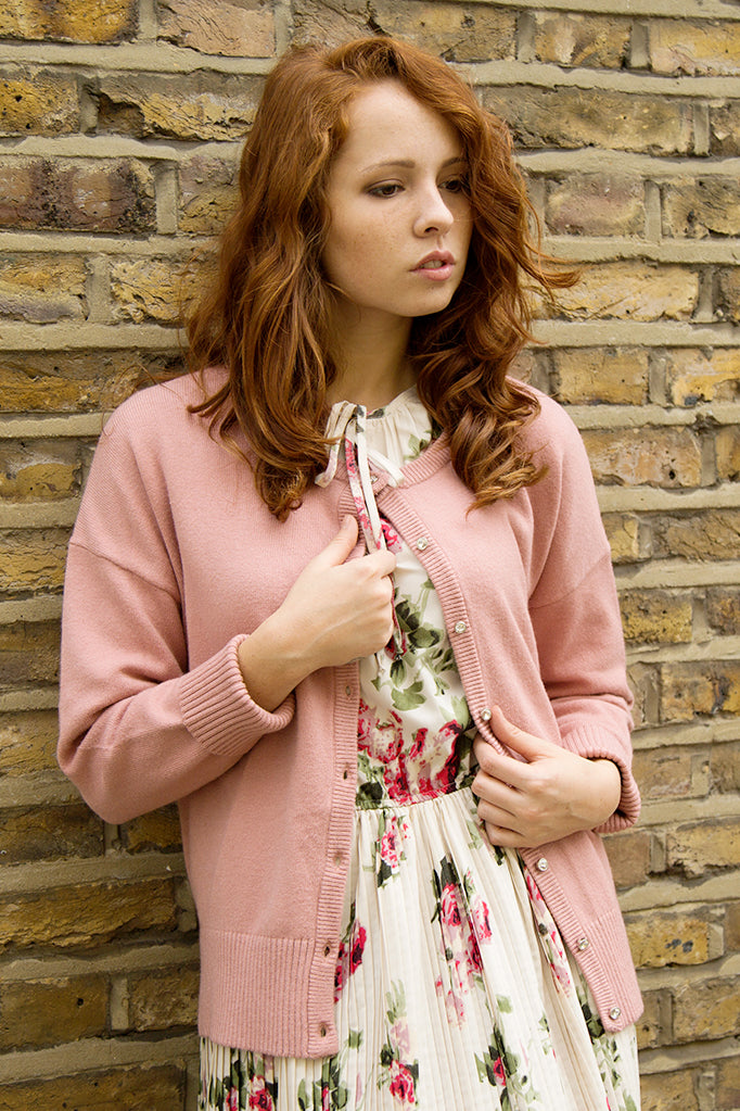 Rose Willow Crew Neck Cardigan