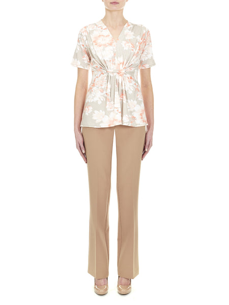 Highbury Gathered Waist Top - Nougat London - 1