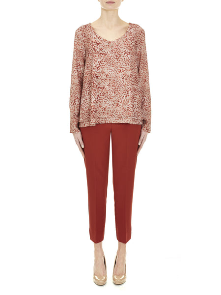 Rust Dalston Capri Pant - Nougat London - 1