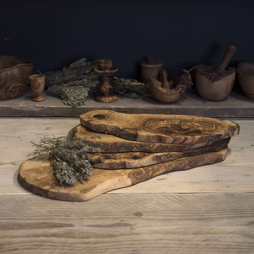 Olive wood chopping board (rustic) - Be Natural Products